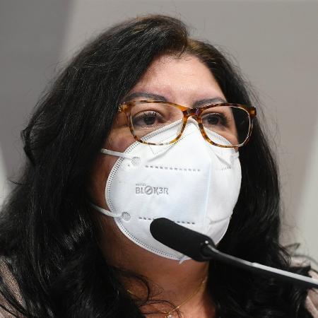 06.jul.21 - Servidora Regina Célia em audiência na CPI da Covid - Marcos Oliveira/Agência Senado
