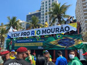 Carro de som com faixa de apoio à candidatura de Mourão no Rio - Divulgação - Divulgação