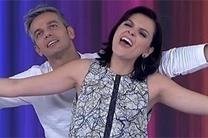 Otaviano Costa e Monica Iozzi no programa Video Show