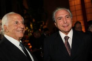 21.jun.2013 - Michel Temer na Festa de 50 anos de casamento de Jose Yunes