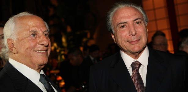 Yunes e Temer em 2013, na festa de 50 anos de casamento do advogado