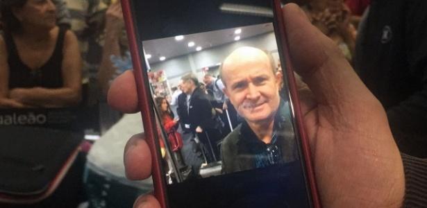 Sérgio Padovani estava no mesmo voo que trouxe Eike --e fez uma selfie para registrar o momento