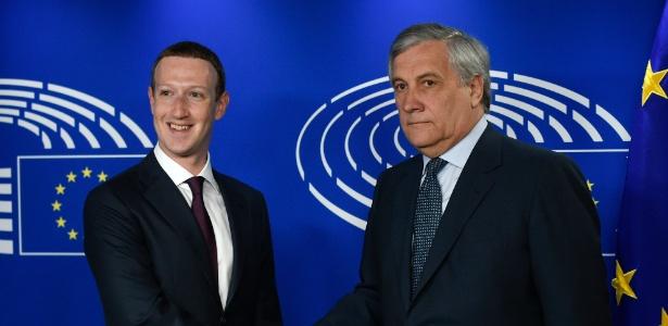Zuckerberg foi sabatinado pelo Parlamento Europeu - AFP