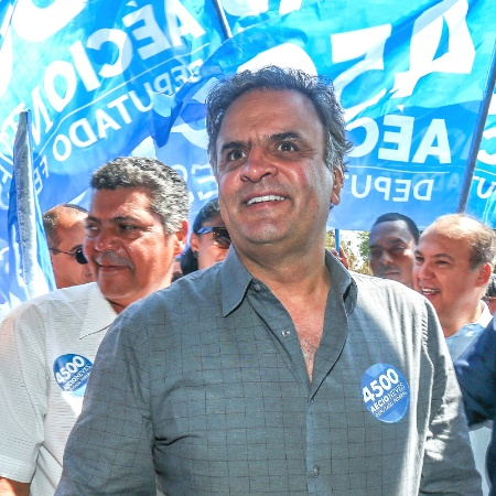 Aécio Neves durante a campanha eleitoral - Ricardo Matsukawa/UOL