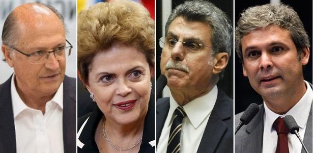 Geraldo Alckmin, Dilma Rousseff, Romero Jucá e Lindberg Farias: ninguém chegou lá