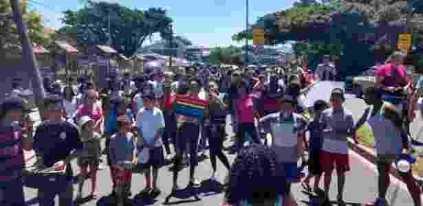 Protesto contra violência nas escolas de Porto Alegre - Angelo Barbosa - Angelo Barbosa