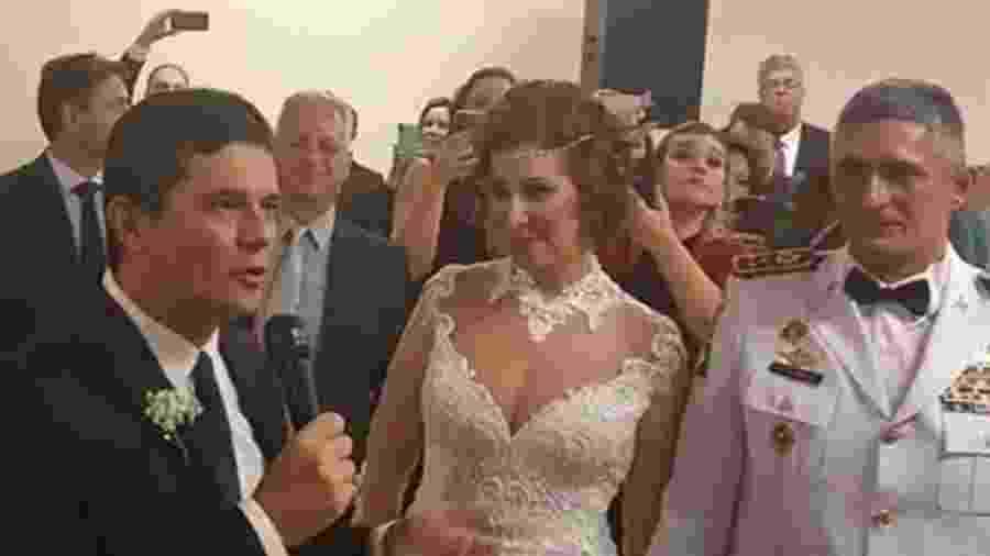 Moro discursa em casamento de Carla Zambelli - Reprodução/Redes sociais