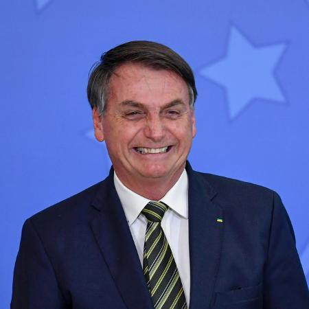 Presidente Jair Bolsonaro (sem partido) durante solenidade de posse de Andre Luiz de Almeida Mendonça como ministro da Justiça, em 29 de abril de 2020 - Mateus Bonomi/AGIF