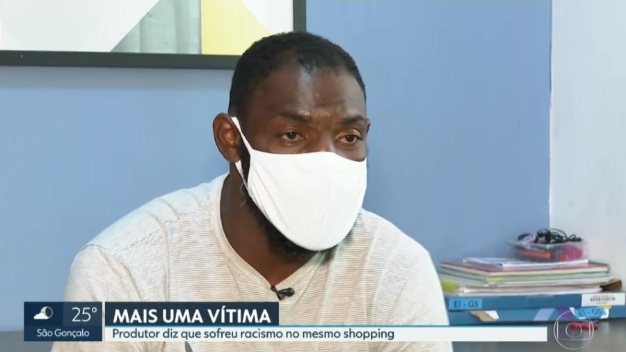 Thiago Silva alega ter sido vítima de racismo em shopping do Rio de Janeiro - Reprodução/TV Globo