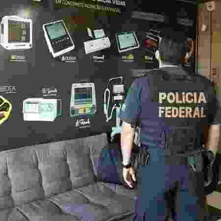 Policiais Federais cumprem mandados de busca e apreensão no âmbito da Operação Virion - Divulgação/Polícia Federal