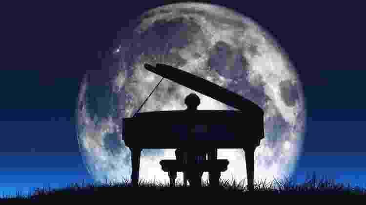 A antiga teoria da Musica Universalis (ou harmonia das esferas) sustenta que os planetas se movem de acordo com equações matemáticas e, portanto, ressoam para produzir uma sinfonia inaudível - Getty Imagem - Getty Imagem
