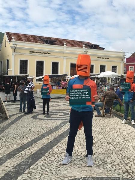Ação será intensificada na reta final das eleições municipais em Curitiba, e será copiada por outros municípios - Novo/Divulgação