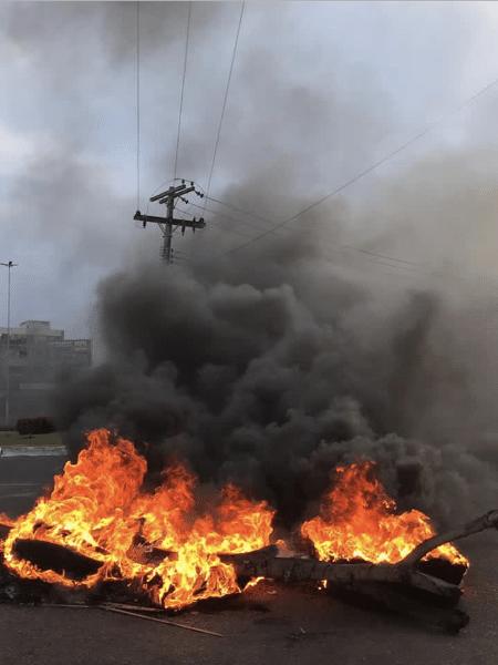 Incêndios durante protestos em Macapá - Arquivo Pessoal