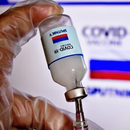 Imagem ilustrativa da Sputnik V, vacina contra a covid-19 desenvolvida pelo Instituto Gamaleya, na Rússia - Adriana Toffetti/A7 Press/Estadão Conteúdo