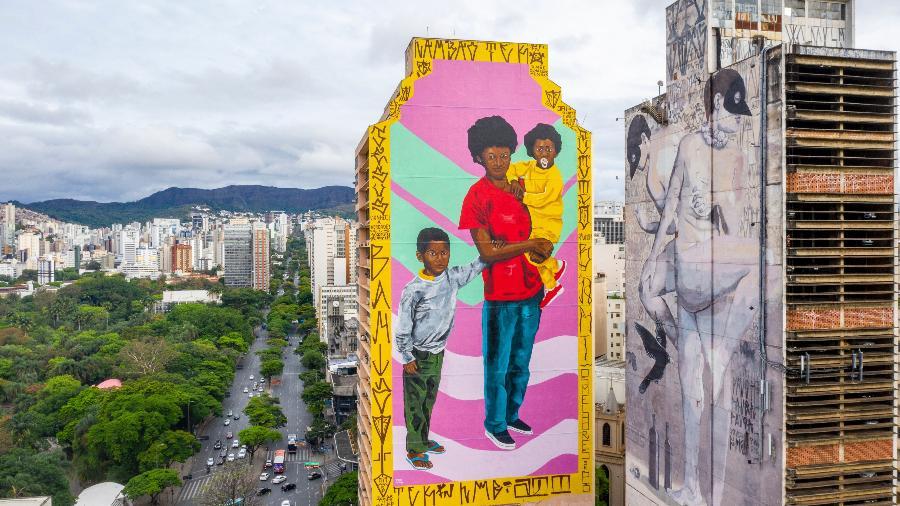 Mural no centro de BH é alvo de investigação - Divulgação/CURA