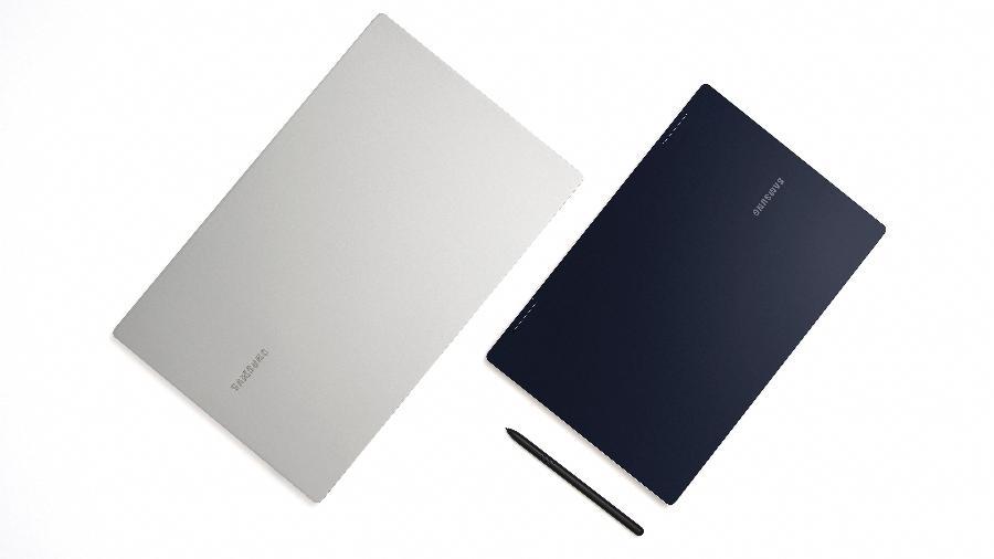Galaxy Book Pro de 15,6 polegadas ao lado do Galaxy Book Pro 360 de 13,3 polegadas - Divulgação