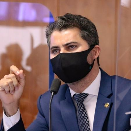 20.mai.2021 - O senador Marcos Rogério (DEM-RO), relator da MP da Eletrobras no Senado  - Por Maria Carolina Marcello e Ricardo Brito