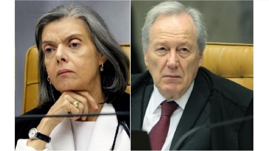 Cármen Lúcia e Ricardo Lewandowski, relatores de ações que tentam impedir a realização da Copa América no Brasil. Supremo não deve atender a pedidos, Lewandowski faz exigências - Reprodução