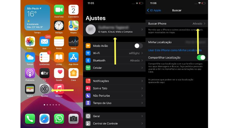 Paso a paso para verificar si la opción Buscar mi teléfono está habilitada en iPhone (iOS) - Encendido - Encendido