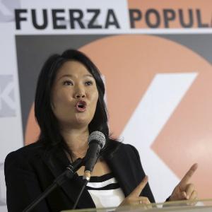 2.jan.2016 - Candidata à Presidência do Peru Keiko Fujimori em entrevista sobre as eleições presidenciais em seu país