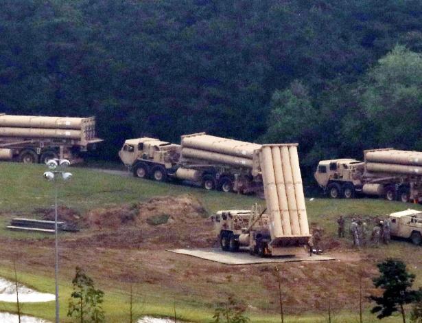 Chegada de interceptores de projéteis adicionais ao sistema antimíssil Thaad nesta 5ª
