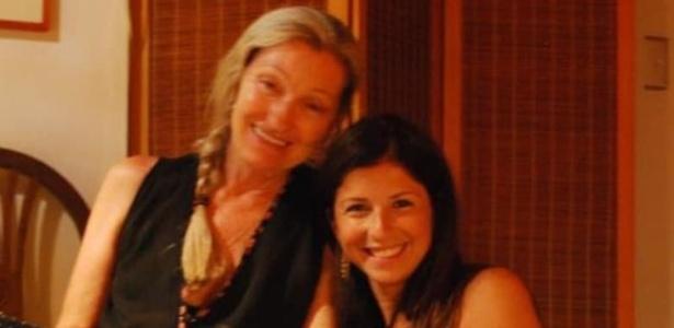Milu Muller (esquerda) com a filha Cecília Haddad