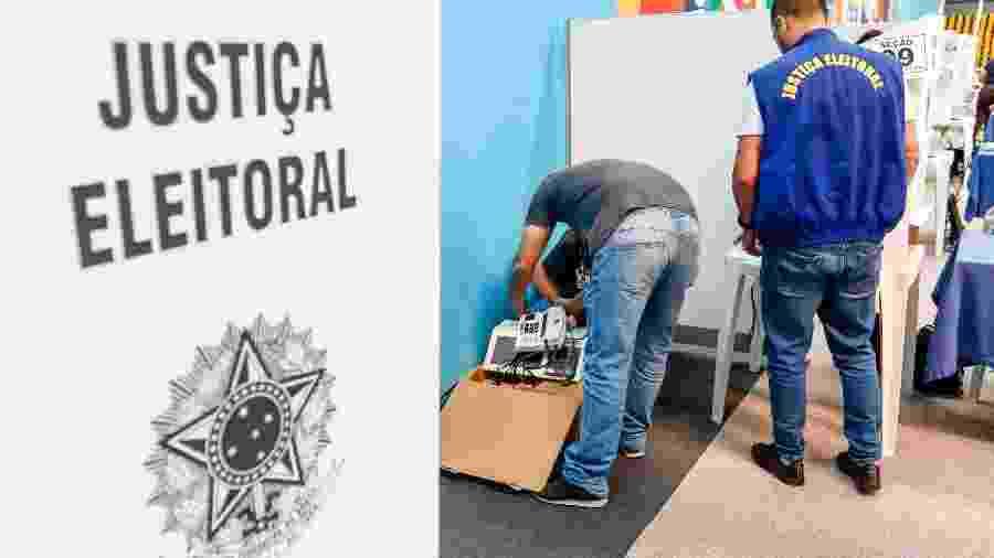 Funcionários da Justiça Eleitoral realizam troca de urna eletrônica que apresentou defeito em Curitiba - Theo Marques/FramePhoto/FOLHAPRESS