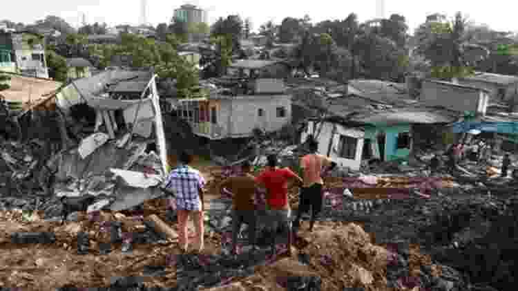 Os deslizamentos já custaram a vida de centenas de pessoas, como o que ocorreu em Manila em 2000 - Getty Images/BBC