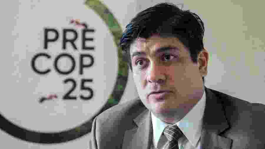 Carlos Alvarado, presidente da Costa Rica, participou do encontro - Ezequiel Becerra/AFP