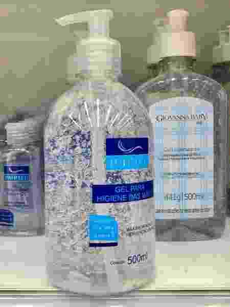 Embalagens de álcool em gel - Marcelo D. Sants/FramePhoto/Estadão Conteúdo