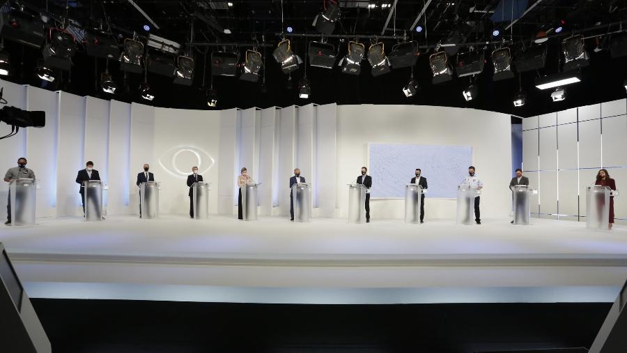 Primeiro debate com candidatos à prefeitura de São Paulo que ocorreu na TV Bandeirantes; TV Cultura confirma segundo encontro no dia 12 de novembro - Kelly Fuzaro/Band
