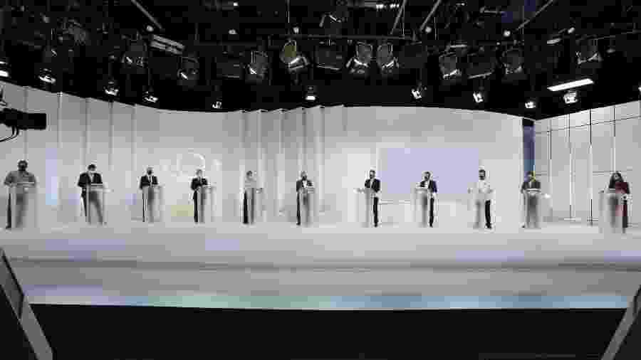 Debate com candidatos à prefeitura de São Paulo realizado pela Band - Kelly Fuzaro/Band