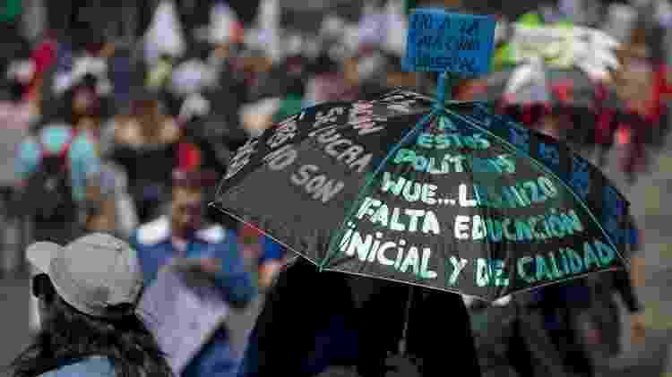 Os manifestantes dos massivos movimentos de rua exigiam a implementação de profundas reformas sociais - Getty Images - Getty Images