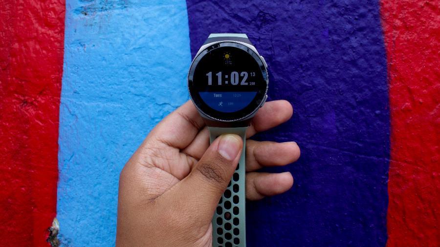 Tela do smartwatch Huawei Watch GT 2e - Guilherme Tagiaroli/UOL