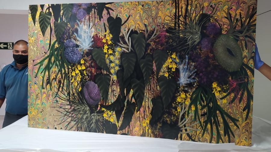 Obra de arte apreendida em endereços ligados aos filhos de Edison Lobão, na fase 79 da Lava Jato - Divulgação/Polícia Federal
