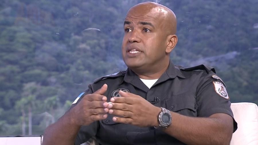 O major Ivan Blaz, porta-voz da Polícia Militar do Rio de Janeiro - Reprodução/ TV Globo