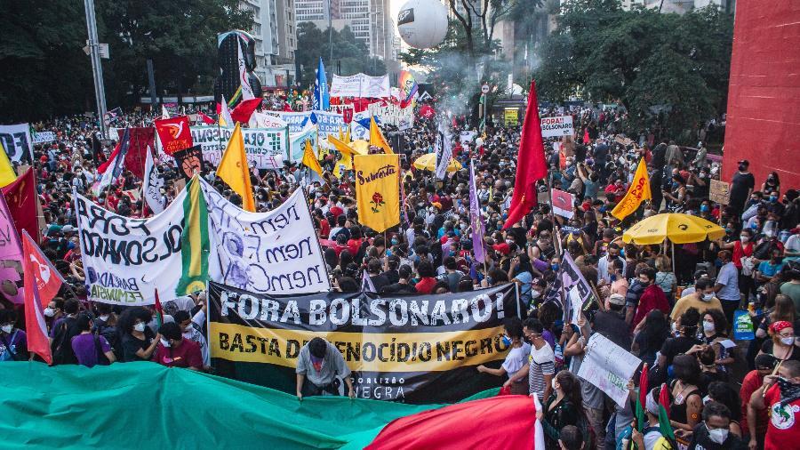 Manifestação contra o presidente Jair Bolsonaro na avenida Paulista em 29 de maio - Yuri Murakami/Estadão Conteúdo