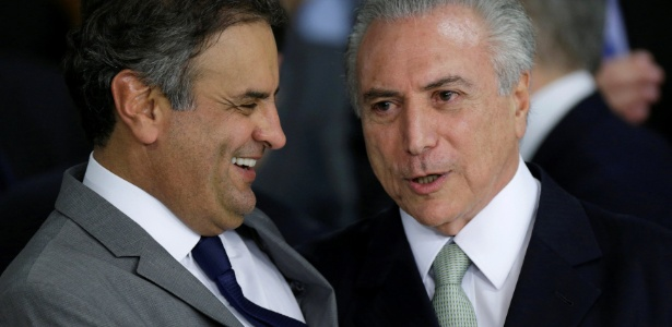PSDB, do senador Aécio Neves (e), reiterou apoio ao governo do presidente Michel Temer