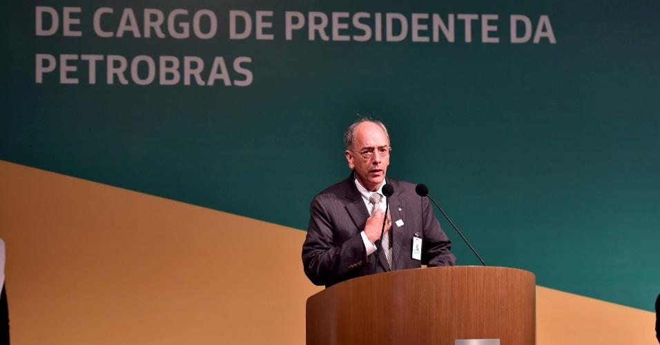 2.jun.2016 - Pedro Parente discursa após cerimônia de transmissão de cargo de presidente da Petrobras, no Salão Nobre do Edifício Sede da Companhia, no Rio de Janeiro (RJ)
