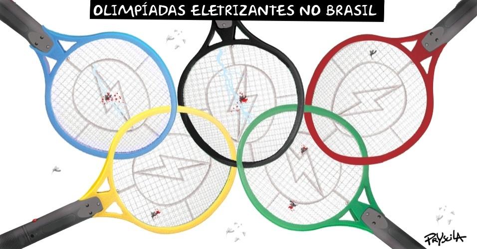 """7.jul.2016 - Assim o logo das Olimpíadas seria mais real e """"eletrizante"""""""