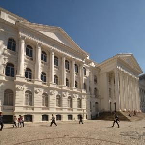 Fachada do Prédio Histórico da UFPR, em Curitiba