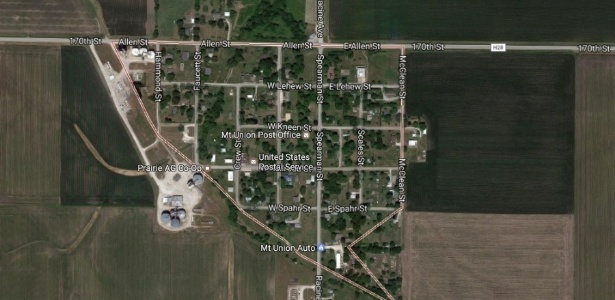 Mount Union, em Iowa, no Google Maps