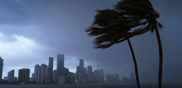Furacão Irma traz chuvas e ventania à costa da Flórida, nos Estados Unidos