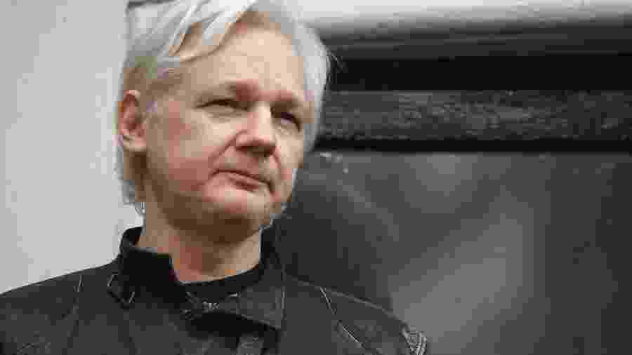 19.mai.2017 - Fundador do Wikileaks, Julian Assange - Justin Tallis/AFP
