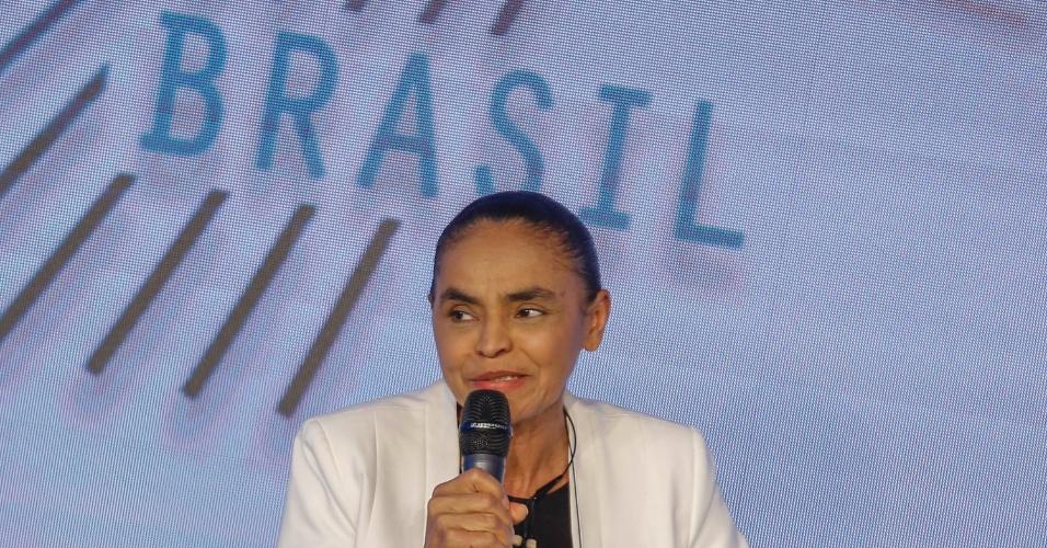 07.ago.2018 - Marina disse que debates devem ser travados entre candidatos, não entre os vices, se referindo a Fernando Haddad