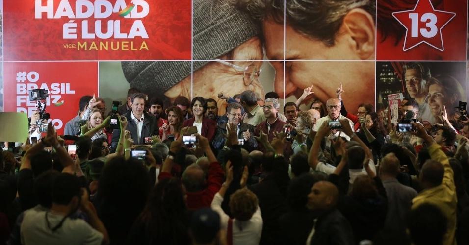 """A militantes, Haddad fala sobre resultado das eleições e pede """"união"""" do povo brasileiro"""