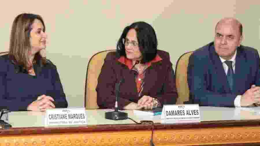 21.02.2019 - Damares Alves se reúne com membros da força-tarefa do MP-GO, responsável por investigar caso João de Deus - Willian Meira/MDH