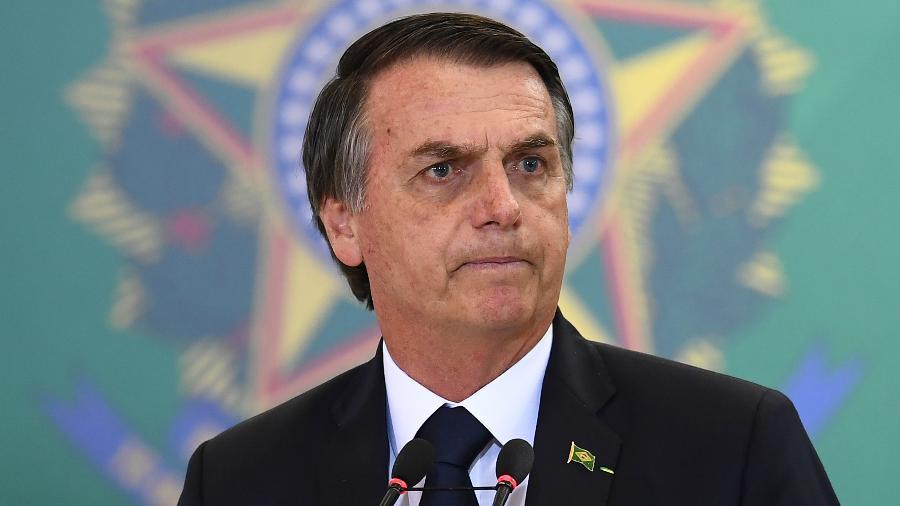 07.01.2019 - Jair Bolsonaro no Palácio do Planalto - Evaristo Sa/AFP