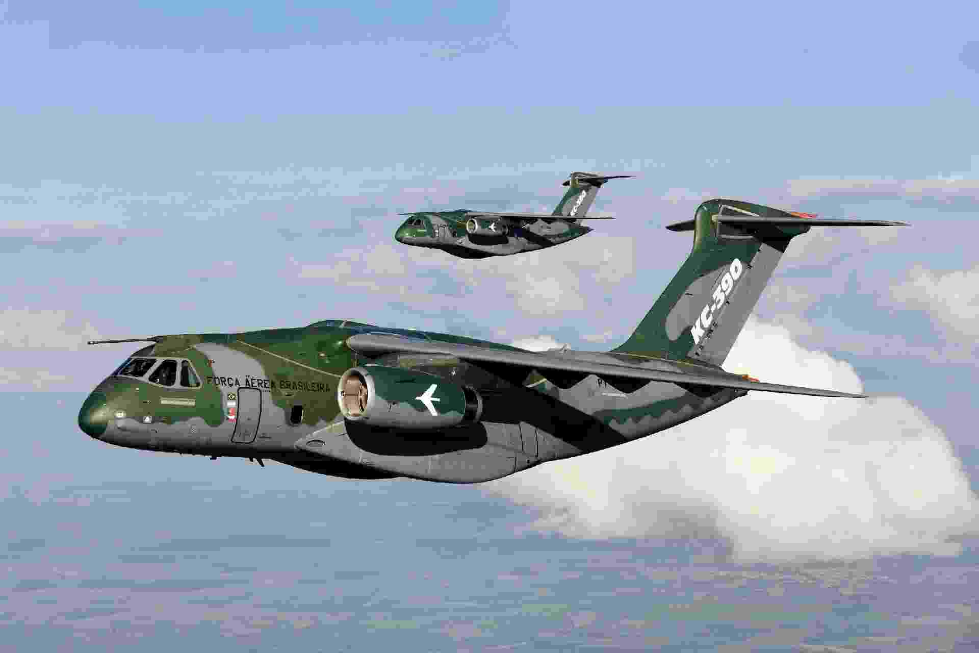 KC-390 é o novo cargueiro militar produzido pela Embraer - Divulgação