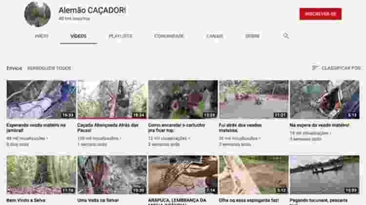 """Canal """"Alemão CAÇADOR!"""" no YouTube tem 40 mil inscritos e compartilha dicas e cenas de caçadas de vários animais silvestres - Reprodução/YouTube - Reprodução/YouTube"""